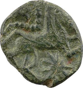 Bellovaques, bronze au personnage courant, c.60-40 av. J.-C