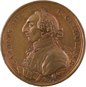 Espagne, Charles III, fondation de la Société d'Économie de Séville par T. Pietro, 1778