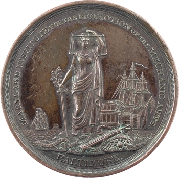 États-Unis, récompense de l'Institut des Arts Mécaniques (Kennedy), par E. Stabler, 1852 Baltimore