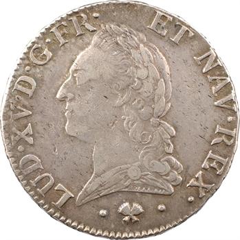 Louis XV, écu à la vieille tête, 1774 Bayonne