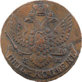 Russie, Catherine II, 5 kopecks, 1794 Ekaterinbourg