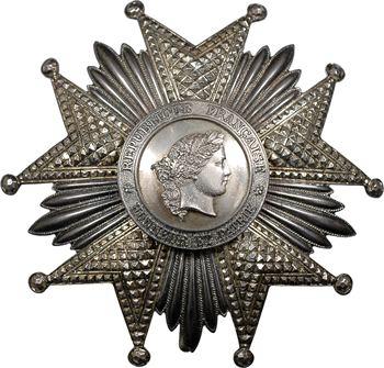 France, IIIe République, plaque de Grand Croix de la Légion d'Honneur