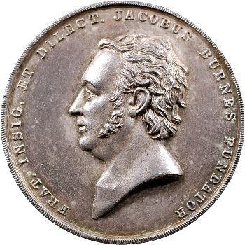 Inde, médaille de la loge maçonnique de Bombay, 1843