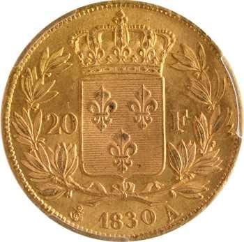 Charles X, 20 francs, 4 feuilles et demie, 1830 Paris, PCGS MS65