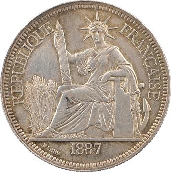 Indochine, 1 piastre, 1887 Paris