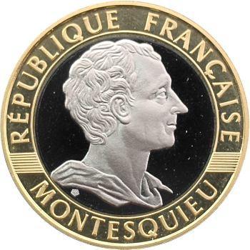 Ve République, 10 francs Montesquieu en or blanc/jaune, 1989 Pessac