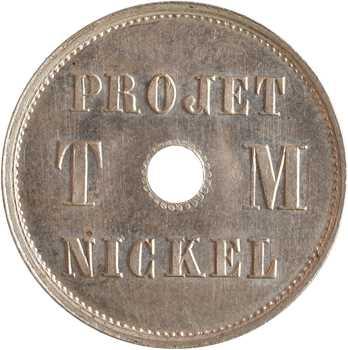 IIIe République, essai de 4 centimes par Michelin, 1889 Paris