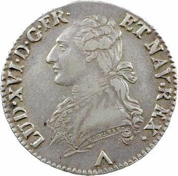 Louis XVI, demi-écu aux rameaux d'olivier, 1779 Lille