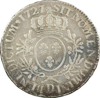 Louis XV, écu aux rameaux d'olivier, 1727/6 Lyon