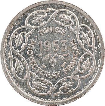 Tunisie (Protectorat français), Mohamed Lamine, 10 francs, 1953 Paris
