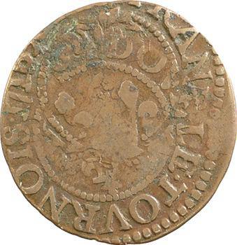 Louis XIII, double tournois, double frappe, 16[??] Tours