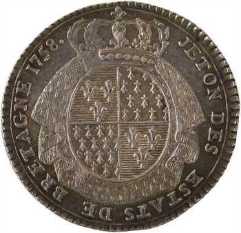 Bretagne (États de), jeton en argent des États de Saint-Brieuc, 1758 Paris