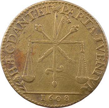 Henri IV, jeton par Nicolas Briot, 1608 Paris
