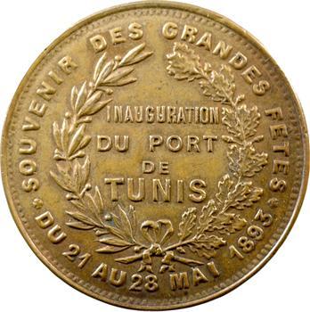 Tunisie, inauguration du port de Tunis, 21 au 28 mai 1893