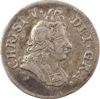 Danemark (royaume de), Christian V, 8 skilling (au buste), 1695 Copenhague
