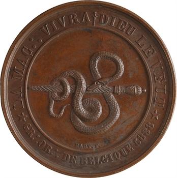 Belgique, Orient de Bruxelles, la Maçonnerie vivra, Dieu le veut, 5838 (1838) Bruxelles