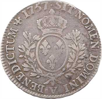 Louis XV, écu au bandeau, 1757 Troyes