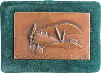Aéronautique, l'avion Nieuport 17, par R.G., plaque de trophée, s.d