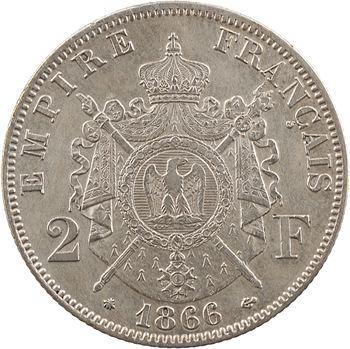 Second Empire, 2 francs tête laurée, 1866 Paris