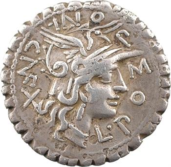 Pomponia, denier serratus, Rome, 118 av. J.-C.