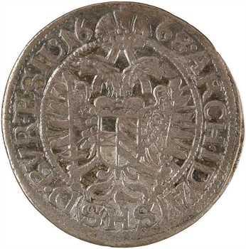 Autriche, Léopold Ier, 3 kreuzer, 1668 Breslau (SHS)