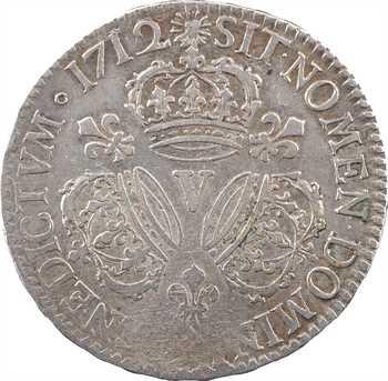 Louis XIV, demi-écu aux trois couronnes, 1712 Troyes