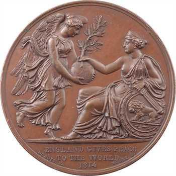 Royaume-Uni / France, le Prince Georges et la Paix de Paris, par Mills et Dubois, 1814