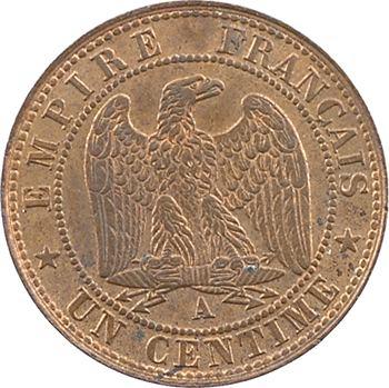 Second Empire, un centime tête laurée, 1861 Paris