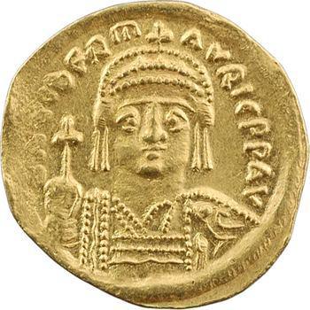 Maurice Tibère, solidus, Constantinople, 4e officine, 582-602