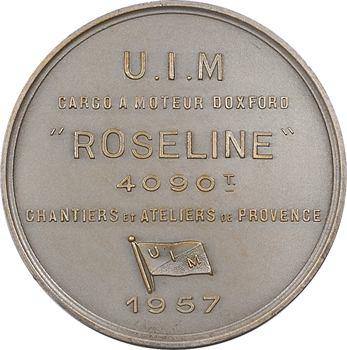 IVe République, Union Industrielle et Maritime / Chantiers et Ateliers de Provence, le cargo Roseline, 1957 Paris