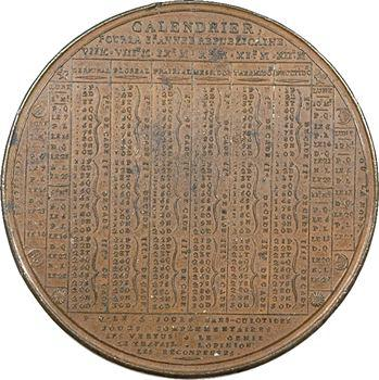 Convention, almanach métallique pour la 3e année républicaine, 1794 Paris