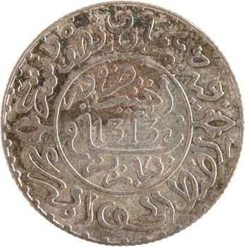 Maroc, Abdül Aziz I, 2 1/2 dirhams, AH 1313 (1895) Paris