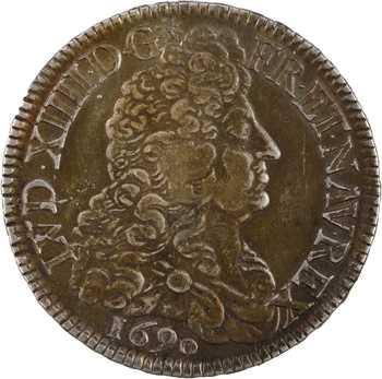 Louis XIV, écu aux huit L, 1er type, 1690 Paris