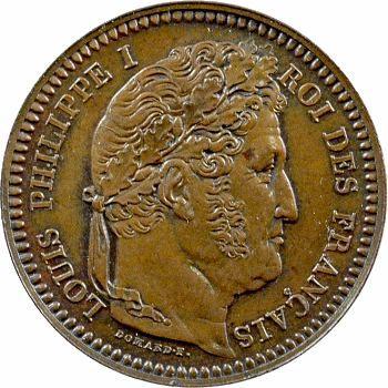 Louis-Philippe I, essai du 3 centimes au coq