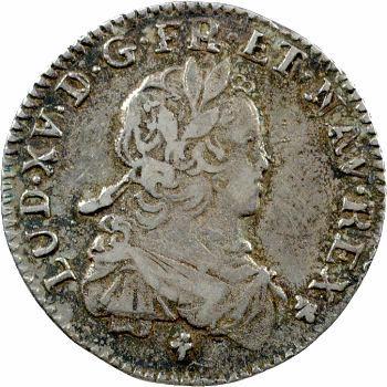 Louis XV, sixième d'écu de France, 1722 Bordeaux