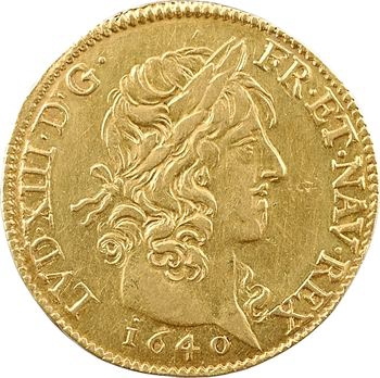 Louis XIII, louis d'or à la croisette, 1640 Paris
