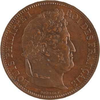 Louis-Philippe Ier, module de 5 francs, visite de la Monnaie de Rouen, 1831 Rouen