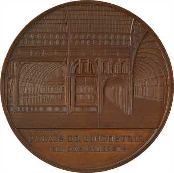 Second Empire, les galeries du Palais de l'industrie à l'Exposition Universelle de Paris, par Caqué et J. Wiener, 1855 Paris