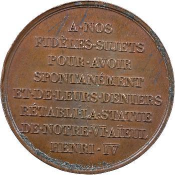 Louis XVIII, rétablissement de la statue d'Henri IV