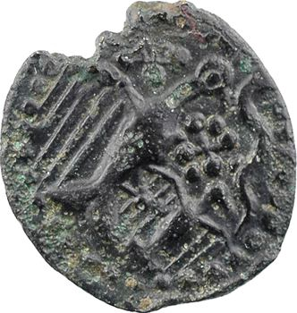 Carnutes, bronze à l'aigle et à l'aiglon, classe VI, c.Ier s. av. J.-C.
