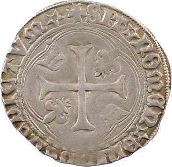 Charles VIII, blanc à la couronne (molettes/molettes et BENEDICTVM*), Châlons-en-Champagne