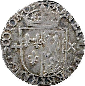 François II, Demi-teston d'argent frappé en Écosse, 1560