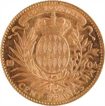 Monaco, Albert Ier, cent francs or, 1904 Paris