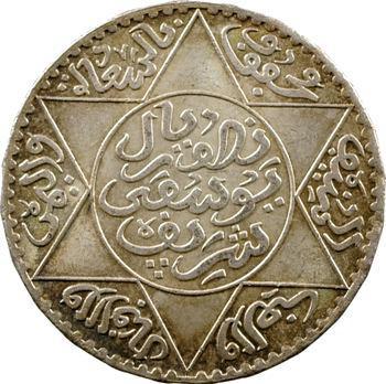 Maroc, Moulay Yussef I, 5 dirhams, 1336 de l'Hégire, Paris