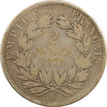 Second Empire, 2 francs tête nue, 1856 Lyon