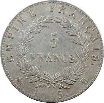Cent-Jours, 5 francs Empire, 1815 Rouen