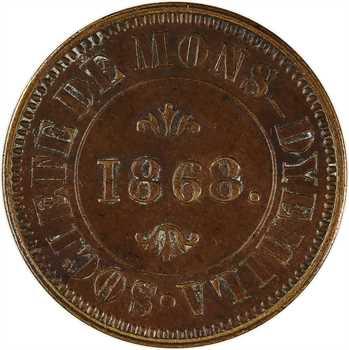 Algérie, Constantine, société de Mons-Dyemila, bon pour 1 journée de travail, 1868