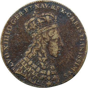 Champagne, Reims, Louis XIV, jeton du sacre, 1654 Nuremberg