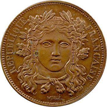IIe République, essai de 10 centimes par Moullé, 1848 Paris