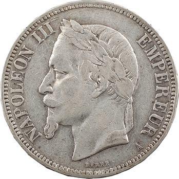 Second Empire, 5 francs tête laurée, 1866 Paris